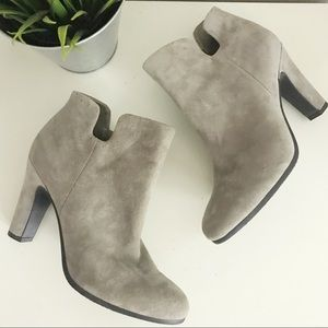Sam Edelman • Suede Heeled Zipper Booties